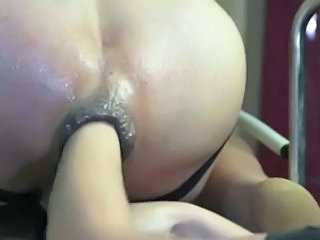 Hard anal play and fist...