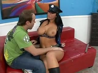 Busty cop Jaydem James questi...