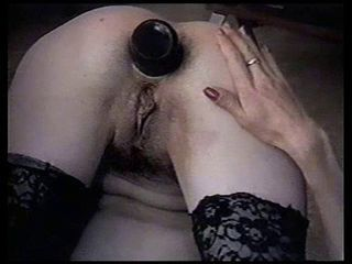 Anal bottle play...