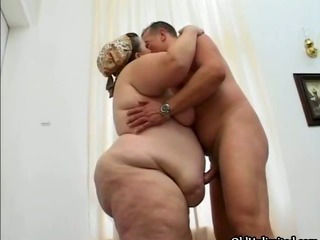 Fat old mature housewife gets...