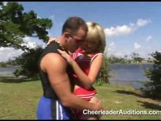 Cheerleader Car Blowjob!