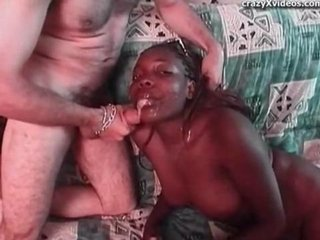 Naughty Black Amateur Sucking Dick