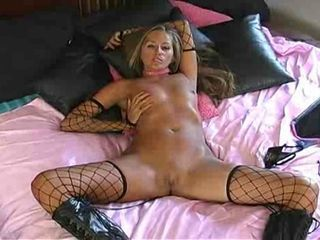 Hot Blonde MILF In Boots Teas...