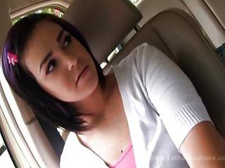 Brunette Car Teen