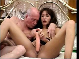 Daddy Daughter Dildo Old and Young Teen Toy