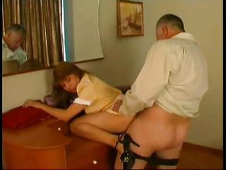 Clothed Daddy Doggystyle Maid Old and Young Teen Uniform