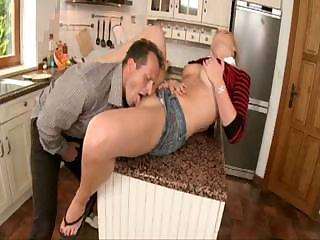 Horny Step Daughter Niki Sand Fucks In The Kitchen