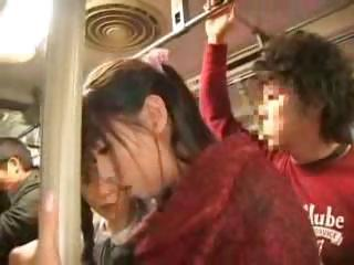 Asian Bus Daughter Japanese Mom Public