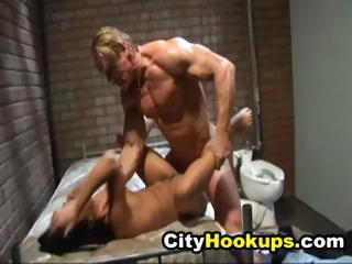 Two Hot Prisoner Bitches Fucked By A Sex Maniac Jail Guard
