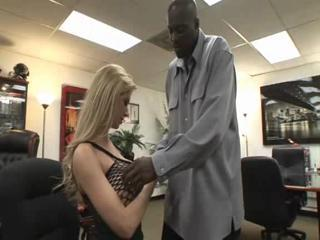 Interracial  Office Pornstar