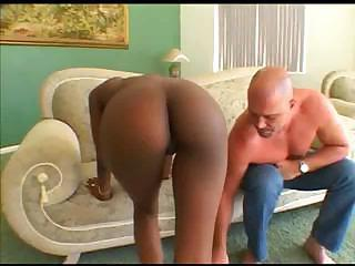 Ebony Pornstar Gets Fucked Hard.
