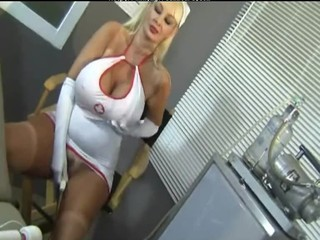 Big Tits Masturbating  Nurse Pornstar Silicone Tits Uniform
