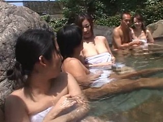Asian Babe Groupsex Japanese Orgy Outdoor Pool Swingers
