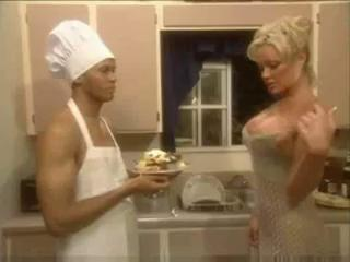 Big Tits Interracial Kitchen  Pornstar