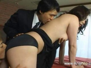 Asian Japanese  Panty Threesome