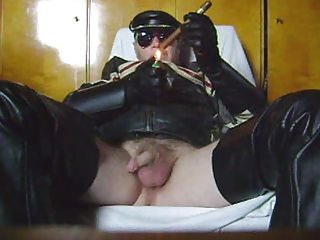 Smoking N Stroking In Leather