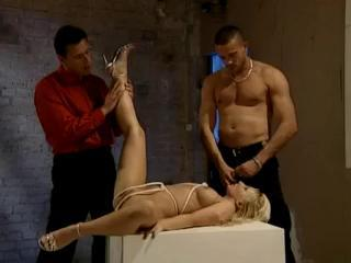 Anal Blonde And A Rope