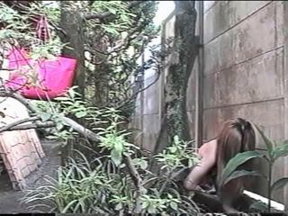 Japanese outdoor masturbating...
