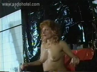 Milf Slave With Tiny Tits Got Metal Clamps With Heav...