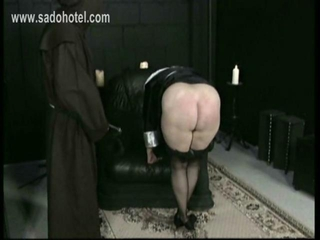 Horny Nun Slave Is Spanked On Her Well Formed Ass An...