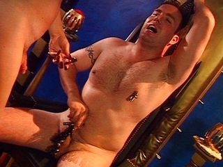 Shemale torturing horny guy...