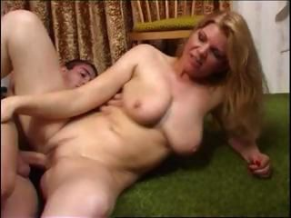 Mature Hot Mom With Young Boy...