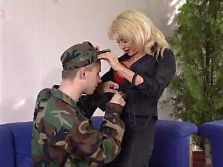 Army  Mom Old and Young Pornstar