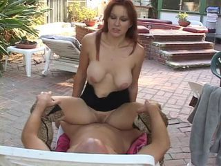 Redhead hottie banged outdoor...