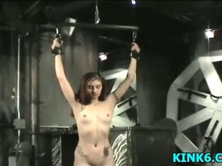 Slaves tits hang to her knees...