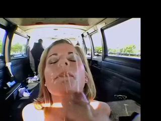 Blonde Car Cumshot Cute Facial