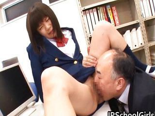 Anri Nonaka together with Kurumi fucked by old guy