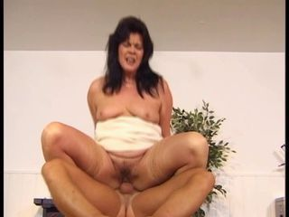 Hairy Mature Riding  Stockings