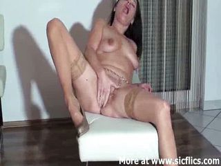Fist fucking the wife till she pisses herself