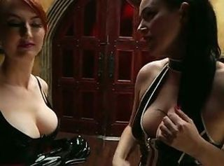 2 naughty latex girls learns PLEASURE