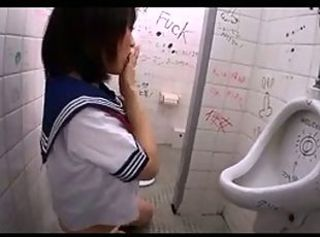 Asian Japanese Student Teen Toilet Uniform