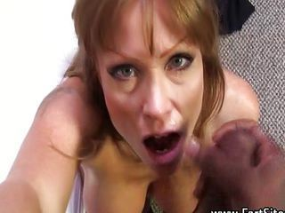 Cumshot Facial Interracial  Pornstar