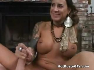 Big Tits Handjob  Piercing Pov Tattoo