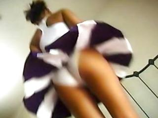 Asian Ass Cheerleader Panty Teen Uniform Upskirt