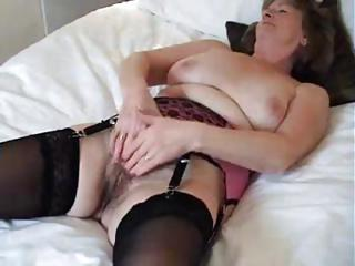 Adorable British Granny Enjoys A Good Wa...