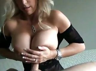 Naughty MILF with Giant boobs Sucks and Fucks