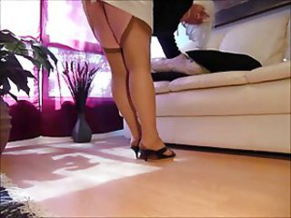 crossdress cocksucking nancy upskirt in stockings 10