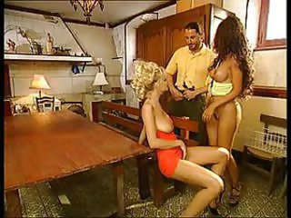 European German  Threesome Vintage
