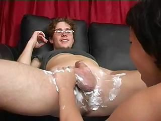 Mom Shaves Throe Blows Boy's Cock