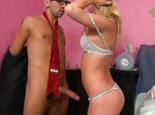 Blonde schoolgirl Casi James seduce her coach