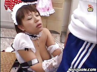 Asiatiske Handjob Japansk  Stuepige Teenager uniform