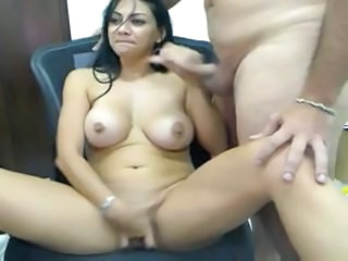 Girlfriend Handjob Latina Natural Webcam