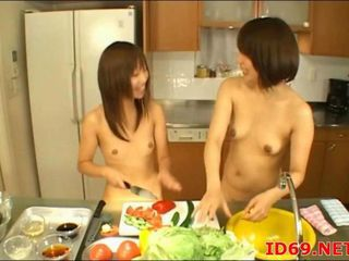 Asian Babe Japanese Kitchen Nudist Small Tits
