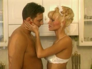 Blonde European French Kitchen  Pornstar Vintage