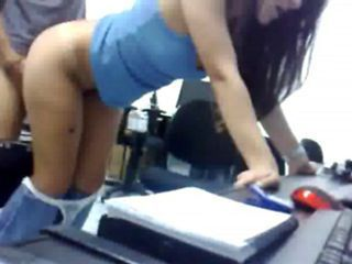 Hot secretary gets banged by her boss at the office.