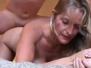 Beautiful older blonde enjoys a hardcore sex session and  cum all over her...
